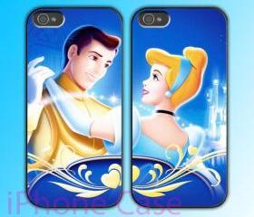custom iPhone 4 case Couple love case Cinderella Story