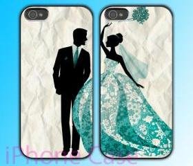 custom iPhone 4 case Couple love case Get Married iPhone