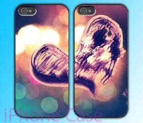 custom iPhone 4 case Couple love case Heart In The Air