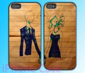 custom iPhone 4 case Couple love case Hold Your Hand