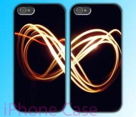 custom iPhone 4 case Couple love case Infinity Symbol