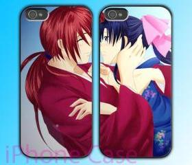 custom iPhone 4 case Couple love case Kenshin Himura Samurai X