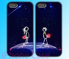 custom iPhone 4 case Couple love case Love Gift