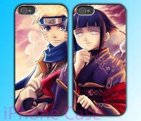 custom iPhone 4 case Couple love case Naruto and Hinata Anime