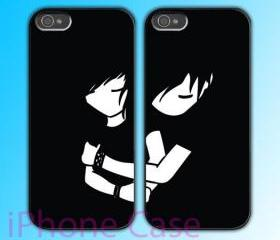 custom iPhone 4 case Couple love case Never Let You Go