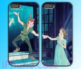 custom iPhone 4 case Couple love case Peter Pan and Wendy