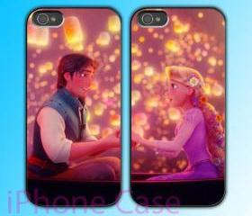 custom iPhone 4 case Couple love case Rapunzel Tangled