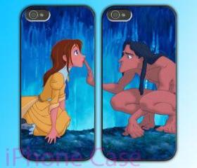 custom iPhone 4 case Couple love case Tarzan And Jane