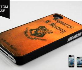 custom iPhone 5 case hogwarts a history book cover