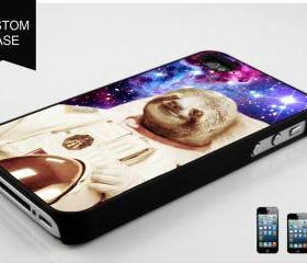 Dolla Dolla Bill Sloth Astronaut , Design available iPhone 4, iPhone 4S and iPhone 5 case - Black, white and Clear